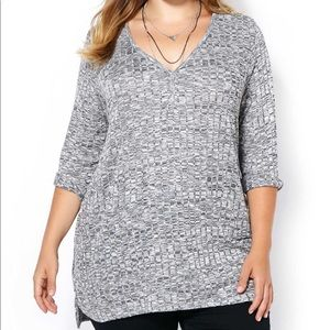 PENNINGTONS   4X   3/4 Sleeve Relaxed Fit Top